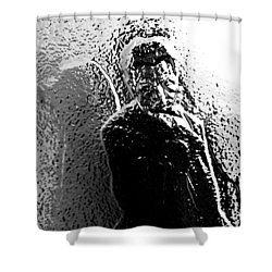 Shower Curtain featuring the photograph Glass Self Portrait by Christopher Woods
