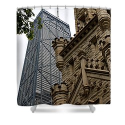 Glass Steel And Stone Shower Curtain