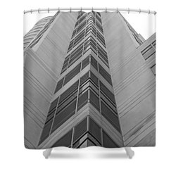 Shower Curtain featuring the photograph Glass Tower by Rob Hans