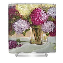 Glass Vase Shower Curtain by Sharon Schultz