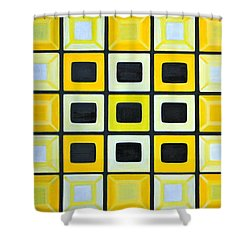 Shower Curtain featuring the painting Glass Wall by Lorna Maza