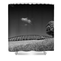 Glasshouse At The National Botanic Gardens, Wales Shower Curtain