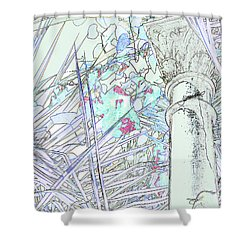 Shower Curtain featuring the photograph Glasshouse Jungle by Nareeta Martin