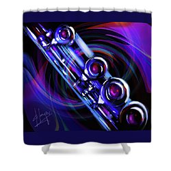Glassical Flute Shower Curtain