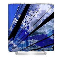 Glassy Confusion Shower Curtain