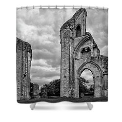 Shower Curtain featuring the photograph Glastonbury Abbey by Elvira Butler