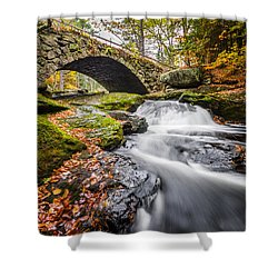 Shower Curtain featuring the photograph Gleason Falls by Robert Clifford