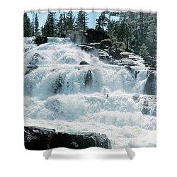 Glen Alpine Falls Mist Shower Curtain