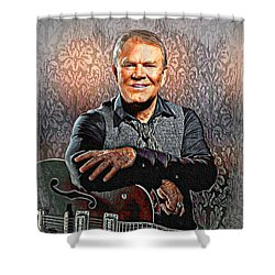 Glen Campbell - Singing Icon Shower Curtain