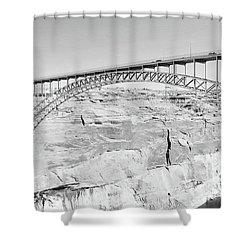 Glen Canyon Bridge Bw Shower Curtain