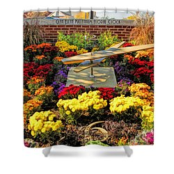 Shower Curtain featuring the painting Glen Ellyn Millennium Flower Clock by Christopher Arndt