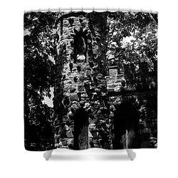 Glen Island Castle  Shower Curtain by Richard Rizzo