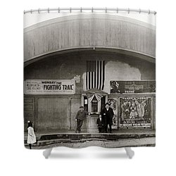 Glen Lyon Pa. Family Theatre Early 1900s Shower Curtain