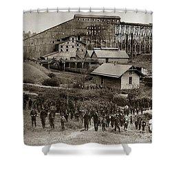 Glen Lyon Pa Susquehanna Coal Co Breaker Late 1800s Shower Curtain