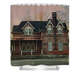 Glen Mill Train Station Shower Curtain by Judy Wolinsky