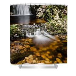 Glenevin Waterfall Clonmany Shower Curtain by Martina Fagan