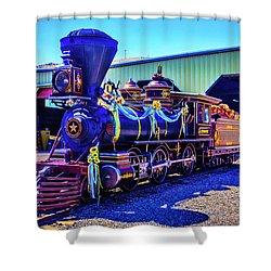 Glenbrook Ginerbread Locomotive Shower Curtain