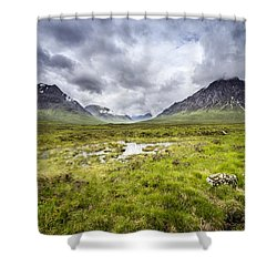 Shower Curtain featuring the photograph Glencoe by Jeremy Lavender Photography