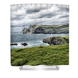 Glencolmcille Shower Curtain by Alan Toepfer