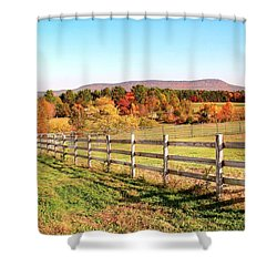 Glendale Road View In The Fall Shower Curtain