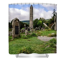 Glendalough Tower Ireland Shower Curtain