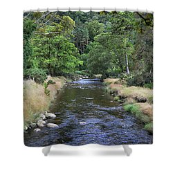Shower Curtain featuring the photograph Glendasan River. by Terence Davis