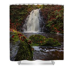 Gleno Falls Portrait View Shower Curtain