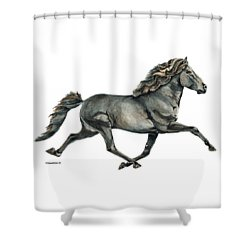 Shower Curtain featuring the painting Gletta by Shari Nees