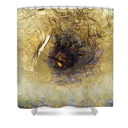 Shower Curtain featuring the painting Gli Uccelli Che Volano A Sud by Sir Josef - Social Critic - ART