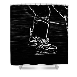 Gliding Shower Curtain by Karol Livote
