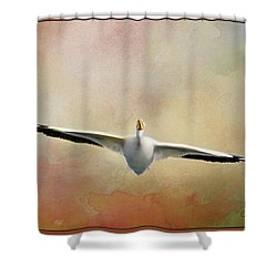 Gliding On Air Shower Curtain