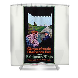 Glimpses From The Observation End Shower Curtain