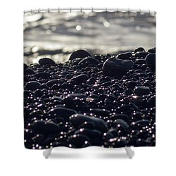 Glistening Rocks Shower Curtain