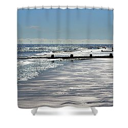 Glistening Shore Shower Curtain