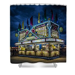 Glittering Concession Stand At The Colorado State Fair In Pueblo In Colorado Shower Curtain