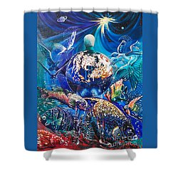 Planet  Earth - Our Family Tree Shower Curtain