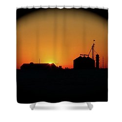 Global Sunset Shower Curtain by Sue Stefanowicz