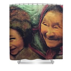Global World Of Love And Compassion Shower Curtain