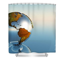 Globe Shower Curtain by Corey Ford