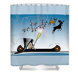 Glooscap Creates The West Isles Shower Curtain