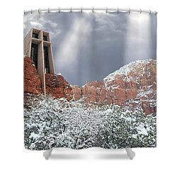 Shower Curtain featuring the photograph Glorious Chapel Of The Holy Cross by Donna Kennedy