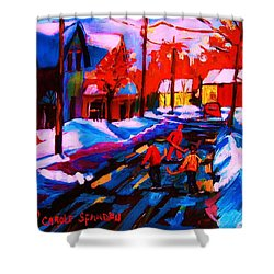 Glorious Day For A Game Shower Curtain by Carole Spandau