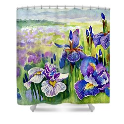 Shower Curtain featuring the painting Glorious Hand Of God by Karen Showell