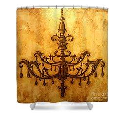 Glorious Light Shower Curtain by Sandra Lett