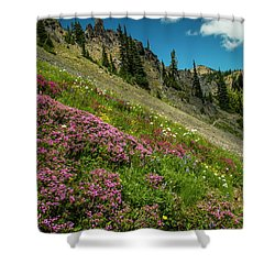 Glorious Mountain Heather Shower Curtain