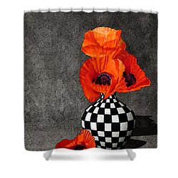 Glorious Poppies Shower Curtain