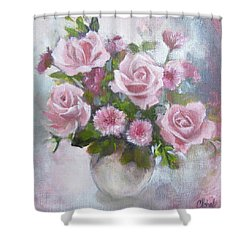 Glorious Roses Shower Curtain