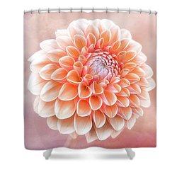 Glorious Salmon Dahlia Shower Curtain