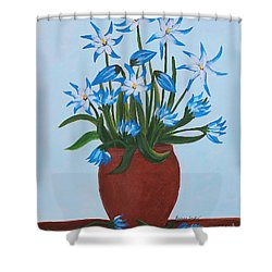 Glory Of The Snow Shower Curtain by Barbara Griffin