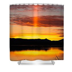 Glory Pillar Shower Curtain